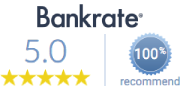 Bankrate Recommended - 5.0 star rating!