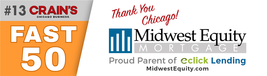 Midwest Equity Mortgage, LLC named Top Company from Crain's Chicago Business